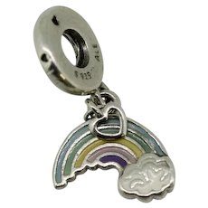 Pandora ALE Sterling Rainbow of Love Dangle Cloud Charm 797016ENMX
