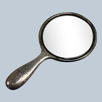 Vintage Gorham Sterling Silver Hand Mirror - Monogrammed