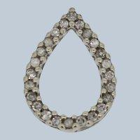 Small 14k White Gold Diamond Drop Slider Pendant
