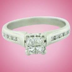 Platinum & Princess/Round Diamonds (.62ctw) Engagement Ring in Size 6