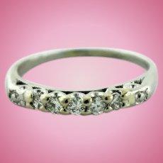 Two Tone Platinum-14K Yellow Gold Diamond (.20ctw) Wedding Band Ring-Size 7