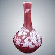 Art Nouveau Stevens & Williams Cameo Vase