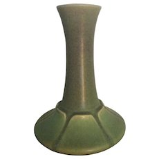 Early Rookwood Matte Green Organic Vase