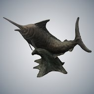 Vintage Contemporary Carl Wagner Sail Fish Bronze