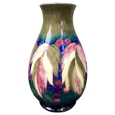 Large Moorcroft Leaf and Berry Vase