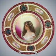 Antique Art Nouveau Handpainted Austrian Plate