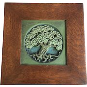 Art Nouveau Rookwood Tree of Life Plaque