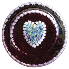 Perthshire Art Glass Heart Paperweight