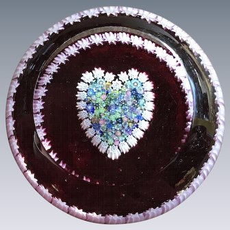 Perthshire Art Glass Heart Paperweight