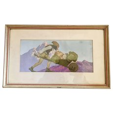 Maxfield Parrish Knave of Hearts Whellbarow Print
