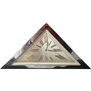 Art Deco Swiss 8 Day Triangle Clock