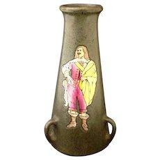 Vintage Austrian Teplitz Stellmacher Musketeer Vase