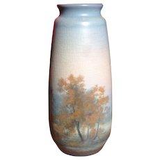 Rookwood Ed Diers Scenic Vellum Fall Vase