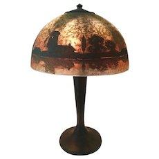 Arts and Crafts Handel Windmill Lamp