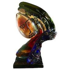 Mid Century Abstract Italian Art Glass Renzo Andreon Sculpture