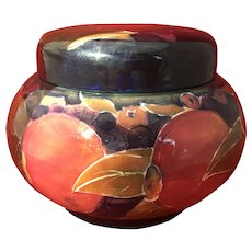 Large Bulbous Moorcroft Pomegranate Screw top Jar