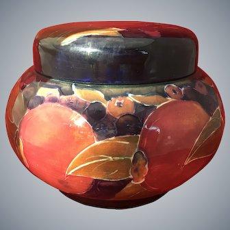 Large Bulbous Moorcroft Pomegranate Screw top Jar