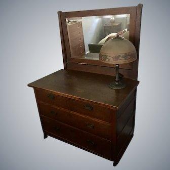 Arts & Crafts Roycroft Mirrored Dresser