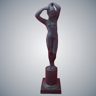 Vintage Italian Grand Tour Bronze Nude Sculpture