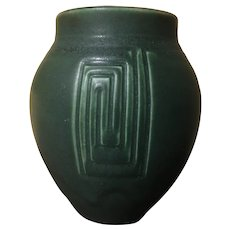 Early Rookwood Dead Matte Green Geo Vase