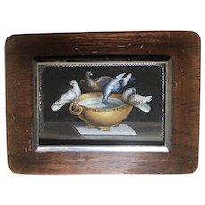 Fine Italian 19th Century Micromosaic Birdbath Plaque