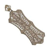 Art Deco Platinum Diamond Pin