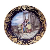 Derby Porcelain Hand Painted Portrait Plate