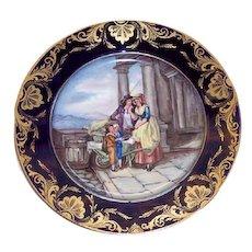 Derby Porcelain Hand Painted Portrait Plate