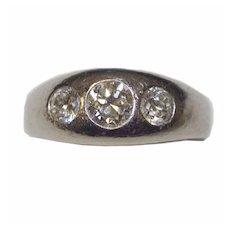 Gorgeous Estate Platinum Diamond Ring