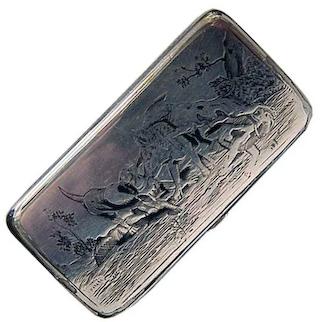 Antique Russian Silver Snuff Box