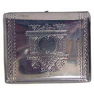 Antique Russian Silver Engraved CIigarette Case