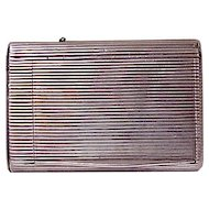 Antique Russian Silver Ribbed Cigarette Case