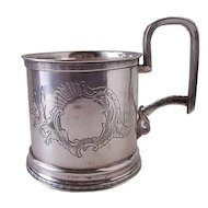 Antique Russian Sterling Silver Tea Glass Holder