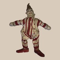 red and white striped Schoenhut circus clown