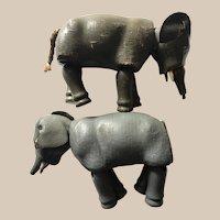 2 schoenhut Humpty Dumpty circus elephants