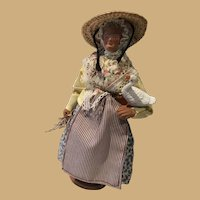 Santon Clay Figurine carrying sticks and Goose