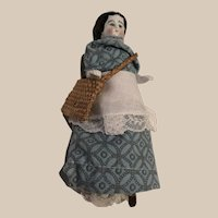 Porcelain Charlotte with woven Bag
