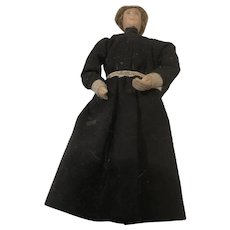 Classic Victorian style Dollhouse Chambermaid in Black and Boots