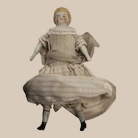Bisque Alice Dollhouse Doll with Lace Pantaloons