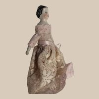 Pretty in pink china dollhouse doll