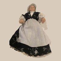 The Old Grandma Dollhouse Doll