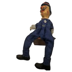 Classic Punch and Judy series (policeman) puppet-cloth and paper mâché