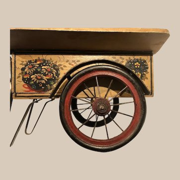 The Daisy Cart,  wood and metal cart