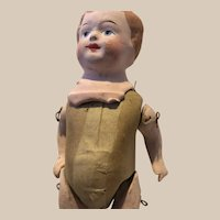 German Cardboard and Plaster Boy Doll