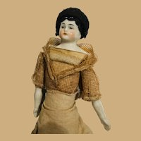 10 inch China Doll with Threaded Wig, Accessories, and Bun