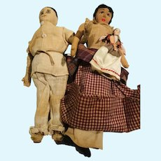 South American Family -3 dolls
