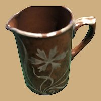 Small Silver over Redware Pitcher