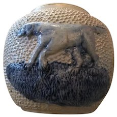 Salt Glazed Jar with Dog