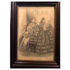 """19th Century Fashion Print """"Les Modes Parisiennes"""""""