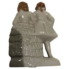 Small Traditional Staffordshire Wedding Couple for a Cake
